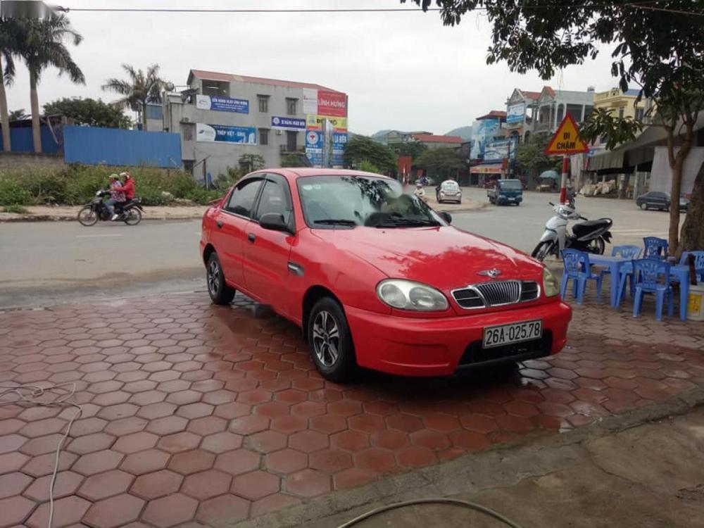 Bán Daewoo Lanos SX sản xuất năm 2002, màu đỏ