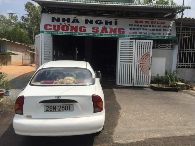 Bán Daewoo Lanos năm 2001, màu trắng, nhập khẩu nguyên chiếc, xe sử dụng rất ít
